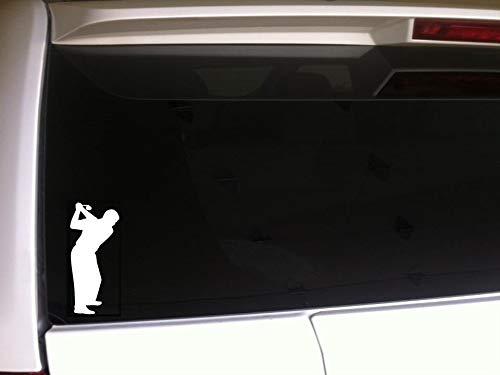 DKISEE Man Golfer Silhouette Auto Sticker Vinyl Sticker Golf Golfclub Ventilator 6 inch Onecolor