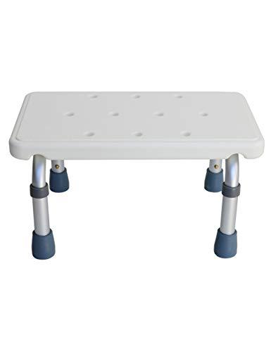 ZhuFengshop Schemel für Bäder und Duschen Aluminium - Weiß und Grau Badstuhl, Senioren