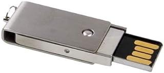 QGT USB Flash Drives 16GB Metal Series Push-pull Style USB 2.0 Flash Disk(Silver)