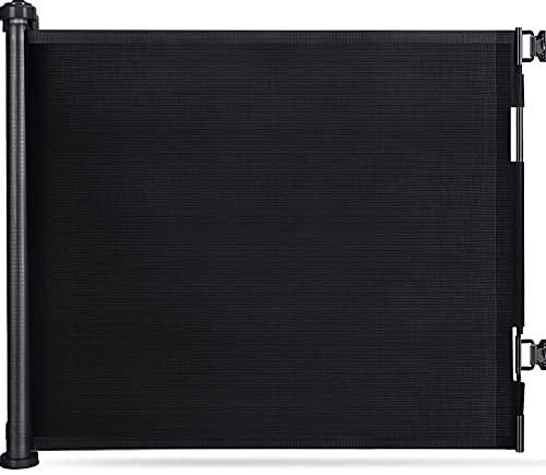 LSZE Treppenschutzgitter Ausziehbar Türschutzgitter 0-150 cm Einziehbares Tür- und Treppengitter für Babys und Haustiere Baby Absperrgitter Ausziehbar geeignet für Innen- und Außenbereich Schwarz
