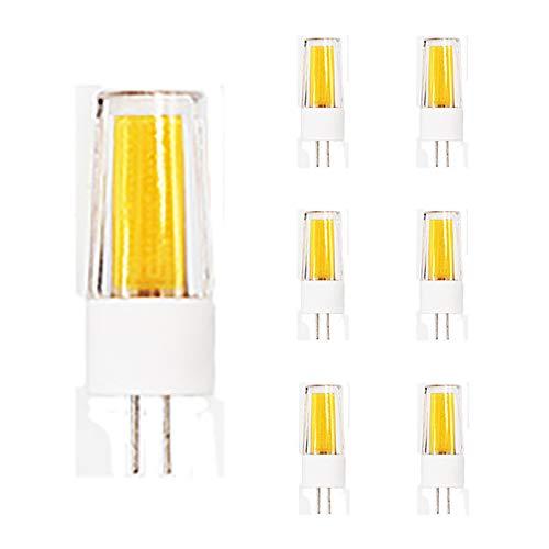 Shhyy Bombilla LED G4 5W Reemplazo De Lámparas Halógenas De 50W Lámparas LED Bombilla LED G4 500Lm Sin Parpadeo G4 DC 12V Vigas Anchas 360︒ Bombilla G4 Paquete De 7,Cool White