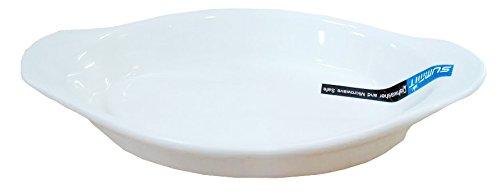 6 Pcs Oval Super White Porcelain Baking Dishes (10.5' x 5.5' (15 oz)) EP09105