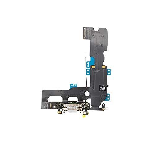 Smartex® Conector de Carga de Repuesto Compatible con iPhone 7 Plus Blanco - Dock de repeusto con Cable Flex Antena y Micrófono