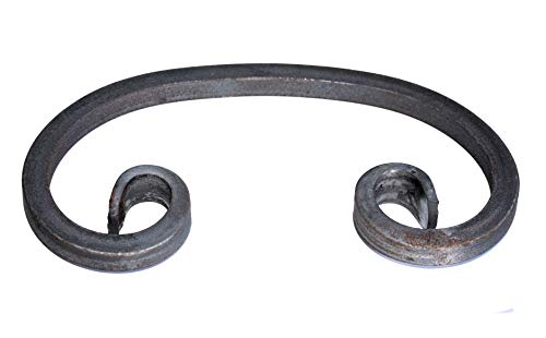 UHRIG ® C Schnörkel Bogen Schnecke schmiedeeisen aus Vierkantstahl 12x12mm geschmiedet Eisen-Kunst Zierelement für Zaun Geländer (220x128mm)