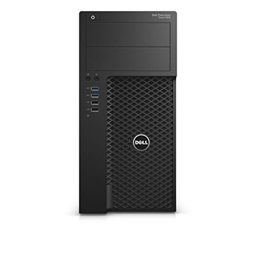 Dell Tower Workstation Desktop PC Precision 3620 i7-6700 16GB RAM, 240 GB SDD + 500GB HDD 2GB Graphics, Windows 10 Pro (Renewed)