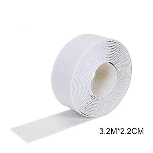 Acreny Selbstklebend Klebeband Whirlpool Badezimmer Dusche Toilette Küchen Wand Abdichtung Wasserfest Mildewproof Klebeband - Weiß, 3.2Mx2.2cm
