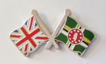 1000 drapeaux Dominica et drapeau du Royaume-Uni