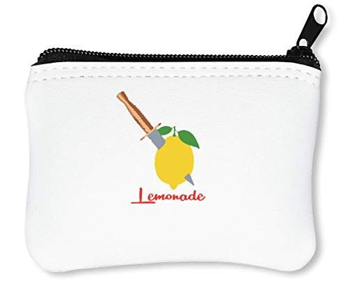 When Life Gives You Lemon Make Lemonade Reißverschluss-Geldbörse Brieftasche Geldbörse