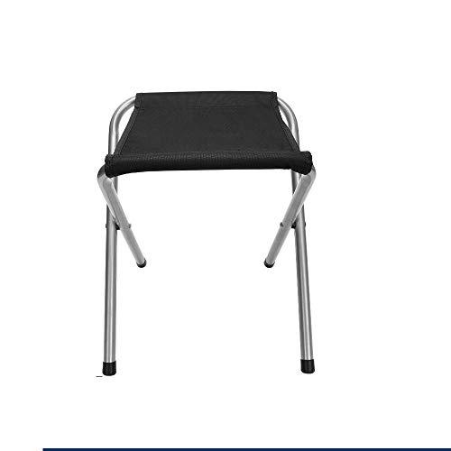Silla Plegable Camping Silla Portátil al Aire Libre con Bolsa de Transporte, Capacidad de Carga Maxima 100 kg, Ideal para Jardín, Playa, Pesca, Camping, Viajes, Senderismo (Color : Black)