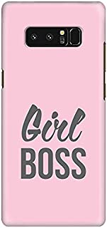 Stylizedd Samsung Note 8 Slim Snap Case Cover Matte Finish - Girl Boss (Pink)