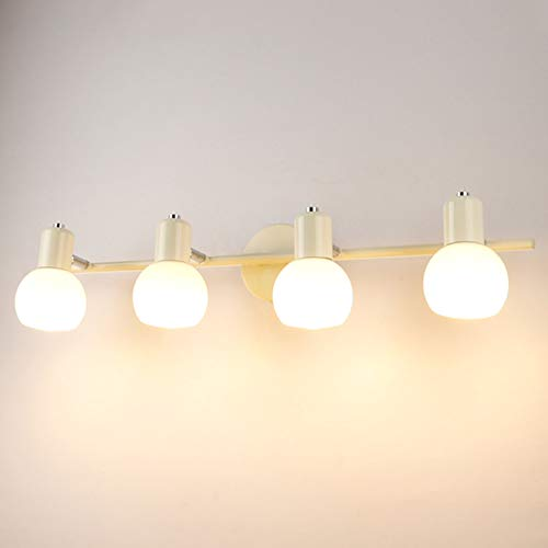 TopDeng spiegellamp, modern, elegant, E14, wandlamp, badkamer, make-up, spiegellamp, LED, warmwit, 3 W