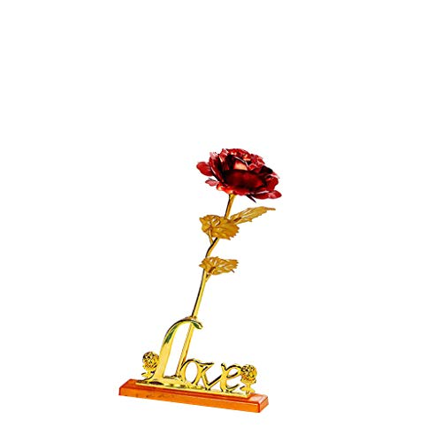 ➤Refill➤ Rose 24K Gold überzogene Rosen Blume mit Geschenk Kasten Valentinstag Muttertag Weihnachtsgeburtstag Hochzeit Vorschlag Verlobung Geburtstag Muttertag Jubiläum