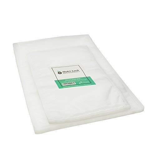 Nutri-Lock Vacuum Sealer Bags. (100 Bags) 50 Gallon and 50 Quart Bags. Commercial Grade Food Sealer Bags for FoodSaver, Sous Vide