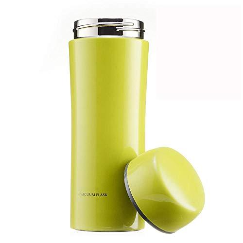 Camping Tasse Thermique ,Thermos 320 ml avec filtre, thermos portable en acier inoxydable-vert_320 ml,bouteille mal,bouteille sous vi,dés,gobel inox,gobels café,gour bois,gour infuseur,gours inox,min