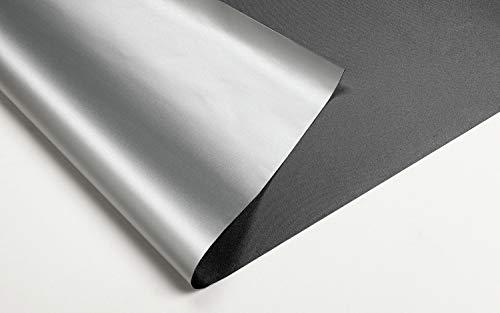 GARDINIA Thermo-Sonnenschutz für Dachfenster, Lichtundurchlässig, Mit Klebe-Klettband, Einfache Befestigung ohne Rückstände, Anthrazit, 95 x 120 cm (BxH)