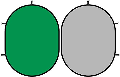 Fondo Chromakey Pantalla de YouTube verde / gris, muselina de algodón portátil Pop Up Plegable Plegable Rectángulo de doble cara Mat Chroma Key Chromakey Fondo plegable