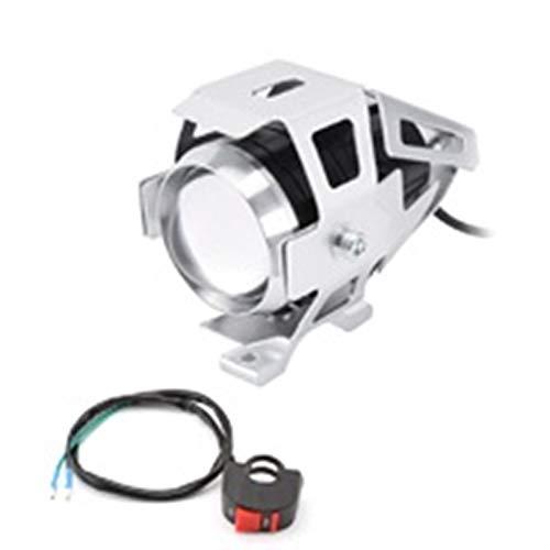 YGGFA 2pcs de la Motocicleta Faros LED 125W 3000LM U5 Impermeable Interruptor de conducción del Punto Principal de la lámpara antiniebla Accesorios de la Motocicleta de los bulbos