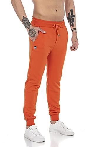 Redbridge Jogging-Hose für Herren Jogger Sweat-Pants Freizeithose Basic Orange L