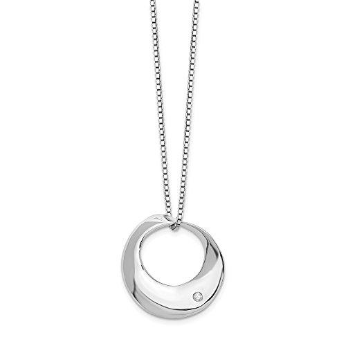 Anillo de plata de ley 925 pulido con diamantes de hielo blanco para mujer, 46 cm