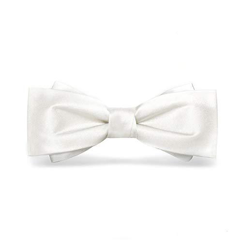 Fliege Herren Fliege Formale Smoking Bowtie verstellbare Länge Hochzeit Party Classic Bowtie Für formelle Anlässe (Farbe : White, Size : Free Size)