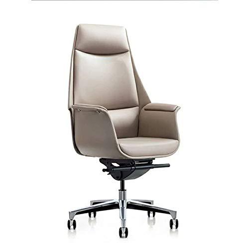 Ergonomic Office Recliner Chair Adjustable Headrest, Armrest, Backrest, Executive Swivel Computer Chair, Comfortable High Back Home Office Chair Desk Chair (Color : White, Size : One size)