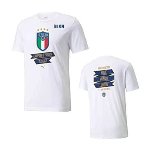 T-Shirt Maglietta CELEBRATIVA Campioni Europei Italia Giocatori ITSCOMINGROME (DONNARUMMA, Chiesa, BARELLA, INSIGNE, INSIGNE) Adulto Bambino