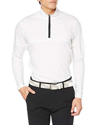 [キャロウェイ] [メンズ] 長袖 ハーフジップ シャツ (吸湿発熱性) / 241-0233508 / ゴルフ ウェア 030_ホワイト 日本 LL (日本サイズ2L相当)