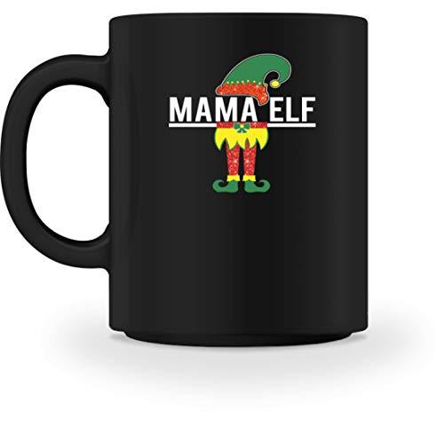 """Taza con texto en alemán """"Mamá Elf"""" (Madre Mutti, padres, elfo, espíritu de la naturaleza, digas, cuentos de hadas, Albe, elbos) Negro M"""