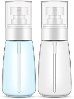 Spray Bottle Travel Size, Yamyone 2Pcs 60ml/2oz Fine Mist Hairspray Bottle for Essential Oils, Empty Airless Makeup Face S...