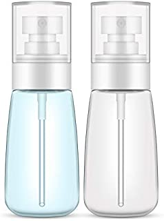 Spray Bottle Travel Size, Yamyone 2Pcs 60ml/2oz Fine Mist Hairspray Bottle for Essential Oils, Empty Airless Makeup Face Spray Bottle Clear Refillable Travel Containers for Cosmetic Skincare Perfume