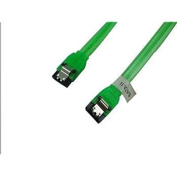OKGear 24 in SATA 3 Cable UV Green Straight to Right