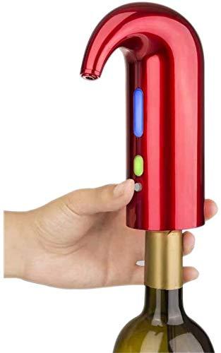 ZKHD Dispensador De Aireador De Vino Eléctrico, Sistema De Difusor De Decantador De Aire Portátil Sistema De Vino Eléctrico Viernes, Accesorios para Vinos para Amantes del Vino, Cargo por USB