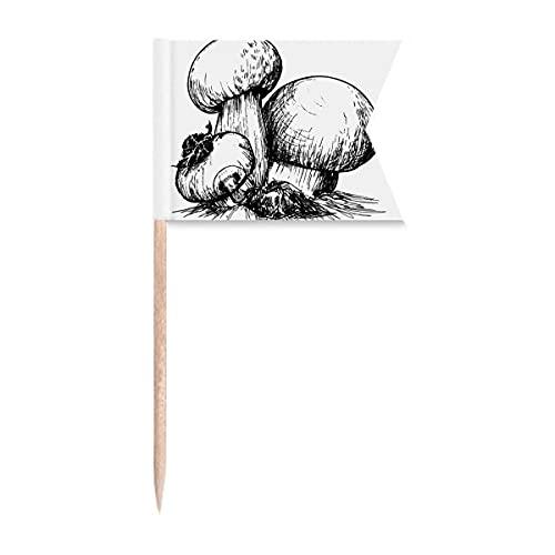 Yummy Creature Swamm Illustration Zahnstocher Flaggen Markierung für Party Kuchen Lebensmittel Käseplatte