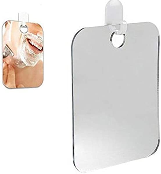 J HO Deluxe Shave Well Fog Free Shower Mirror Anti Fog Shower Mirror Bathroom Mirror Washroom Suction Shaving Mirror Silver