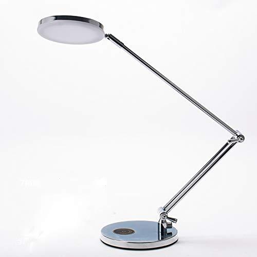 Lámpara de Mesa Moderno Escritorio Minimalista Brazo Largo Plegable Metal LED Protección...