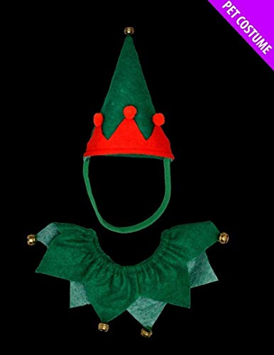 Juego de disfraz de elfo para perros