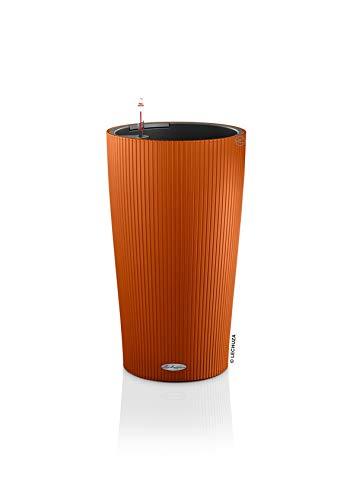 LECHUZA CILINDRO Color 23 hochwertiges Pflanzgefäß mit Erd-Bewässerungs-System, sunset orange, 23x23x41 cm