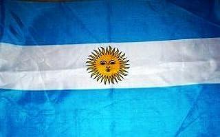 Argentinas flagga på cirkelns skala. 35 x 59 tum med 2 metallbilder av profimaterial