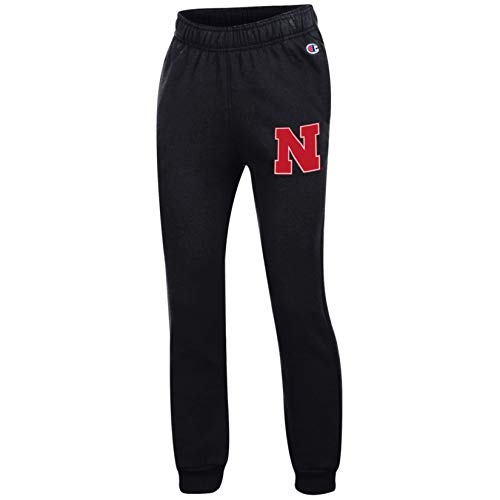 NCAA Nebraska Cornhuskers NCAA Youth Eco Powerblend Jogger, Large, Black
