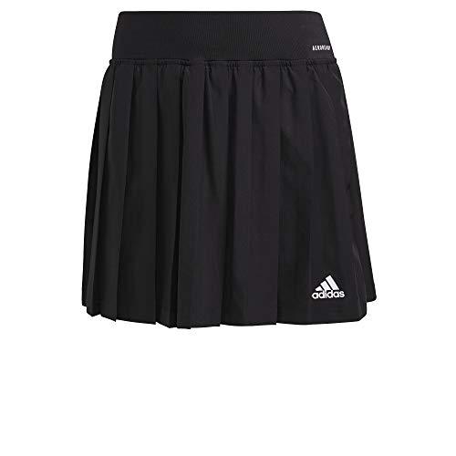 adidas Club Pleatskirt Gonna da Donna, Donna, Gonna, GL5468, Nero/Bianco, M