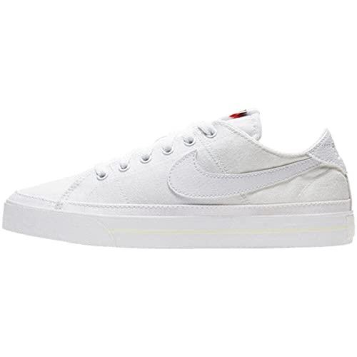 Nike Wmns Court Legacy Cnvs, Zapatillas Deportivas Mujer, White White Summit White, 40 EU