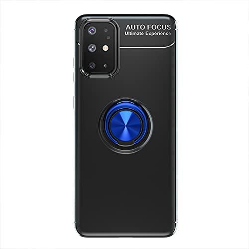 Carcasa de telefono Estuche protector para Samsung Galaxy A31 Caso TPU Soft TPU Afile Caja a prueba de golpes 360 grados Rotating Metal Anillo Magnético Kickstand DISIPACIÓN DE CALOR DISTRIBUCIÓN DE C