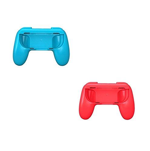 Althemax® 2x Grip Kits Joy-Con Grips Poleas Mango Proteja el Controlador Case Race Car Remote Accesorio Joy-Con Negro / Rojo / Azul Para Nintendo Switch Mario Car Juegos de Carreras