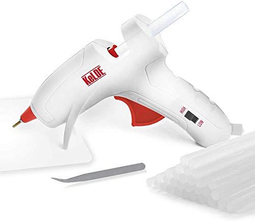 Dual Temp Hot Glue Gun with 30pcs Glue Sticks, KeLDE Long Fine Tip Mini Adjustable Melting Glue Gun Kit for DIY Precision Projects, 20 Watts