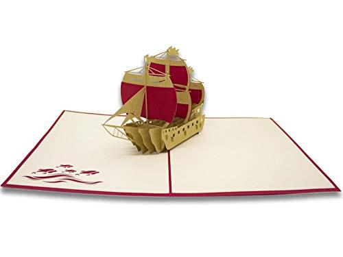 Wenskaart van Auguri met Origami - de Spaanse vaas