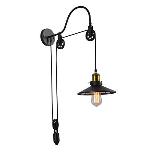 perfk Apliques de Pared Industriales Lámpara de Luz Nocturna Dormitorio Creativo Sala de Estar Pasillo Lámpara LED Montada en La Pared Hierro Arte Rústico