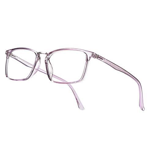PORPEE Gafas de filtro de luz azul, gafas de ordenador anti luz azul. Gafas de bloqueo de luz azul para juegos que reducen la fatiga del sol UV. Gafas de luz azul ultraligera para hombres y mujeres