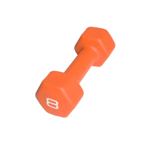 CAP Barbell Neoprene Dumbbell Weights, 8 Pound, Orange, Single
