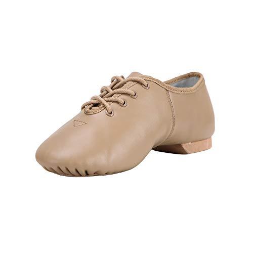 Linodes Leather Lace Up Unisex Jazz Shoe