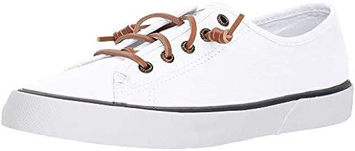 Sperry Womens Pier View Sneaker, White, 7.5